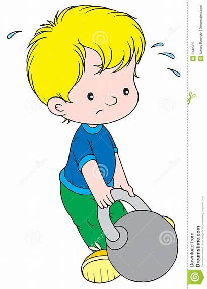 Lifting Weight Clip Children Vector Dreamstime Scrapbook