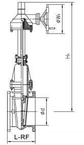 Drawing, Dimensions & Weight Specification of API 600 Gate