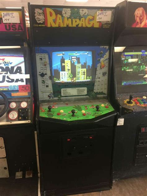 Rampage Arcade Game Arcade And Video Games Arcade Games