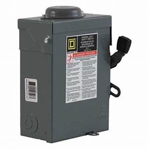 Du221rb  Disconnect  General Duty Safety Switch