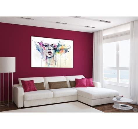 toile pour chambre tableau femme abstrait en couleur artwall and co