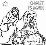 Nativity Coloring Scene Pages Printable Christmas Cool2bkids Template Sheets Jesus Figures Mythology Tale Fairy Adult sketch template