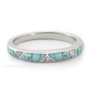 turquoise engagement ring turquoise wedding band on turquoise wedding rings turquoise engagement rings and