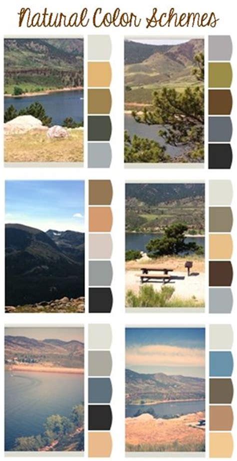 natural colors paint palettes and color schemes pinterest