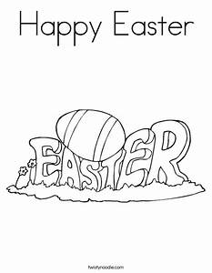 Happy Easter Coloring Page - Twisty Noodle