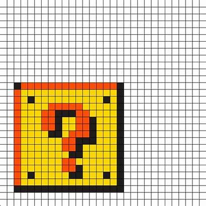 Mario Patterns Block Perler Question Bead Beads