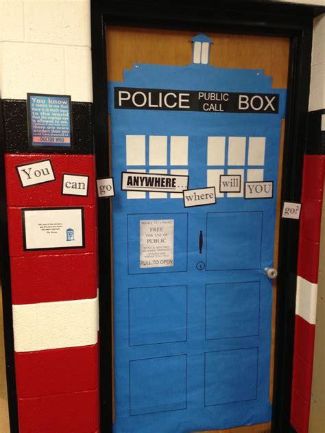 doctor  tardis classroom door decoration education