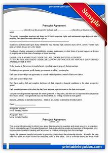 free printable prenuptial agreement form generic With online prenuptial agreement template