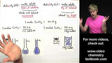 What's The Difference Between Molarity And Molality? Youtube