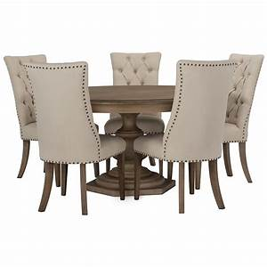 City Furniture: Haddie Light Tone Round Table & 4
