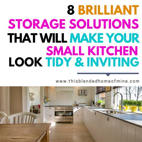 storage solutions for the kitchen 8 small kitchen storage solutions and hacks 8384