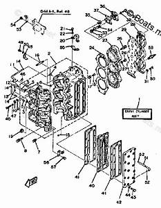 Yamaha Outboard Parts By Hp 90hp Oem Parts Diagram For Crankcase