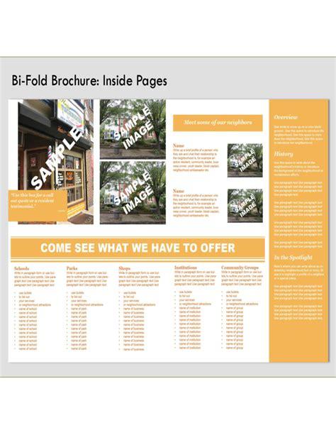 bi fold brochure front