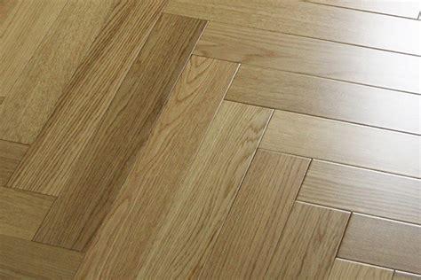 uv finished premier white oak herringbone hardwood flooring