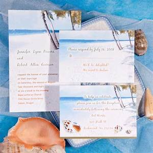 Modern blue beach theme printable online destination for Beach themed wedding invitations online