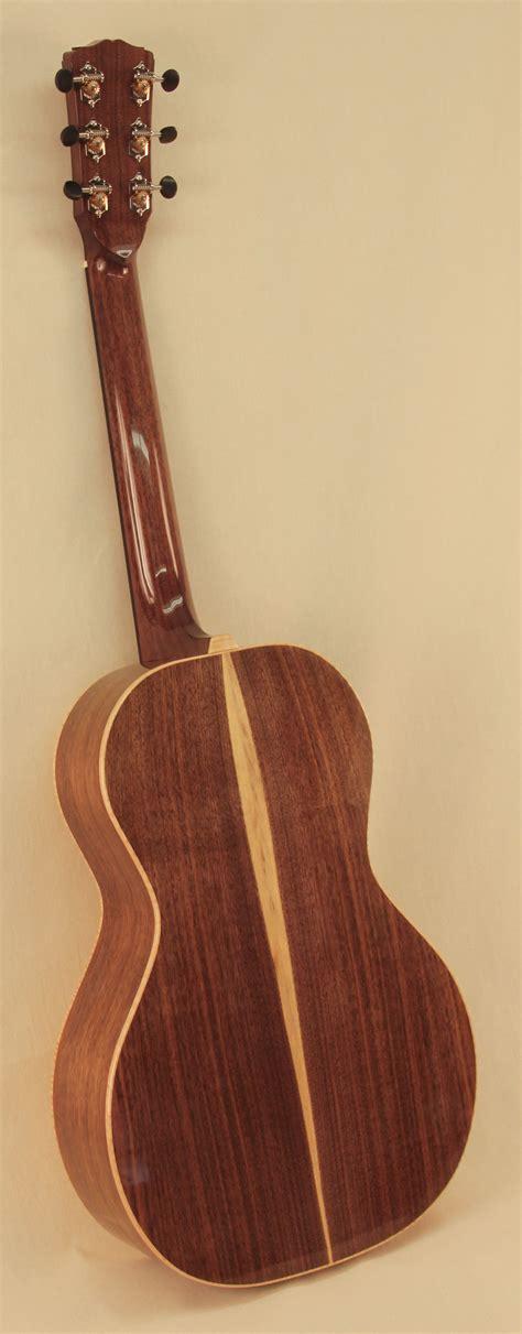 G001  Custom Black Walnut Parlor Guitar  Seeders Instruments