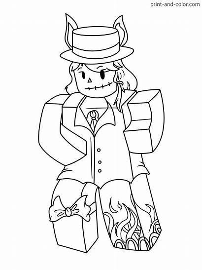 Roblox Coloring Pages Printable Boy Characters Colors