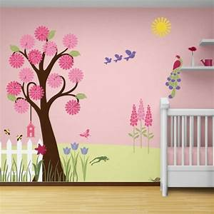 Baby Tapete Mädchen : kinderzimmer wandgestaltung baum selber malen ~ Michelbontemps.com Haus und Dekorationen