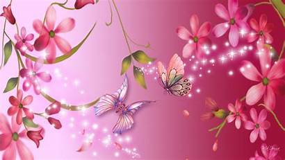 Bright Pink Wallpapers Backgrounds 3d Flowers Abstract