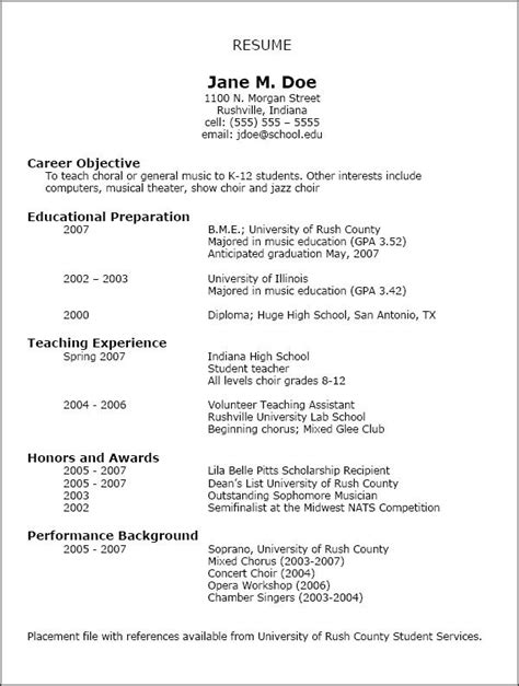 Show Format Of Resume by Nafme Education Resumes Nafme Menc