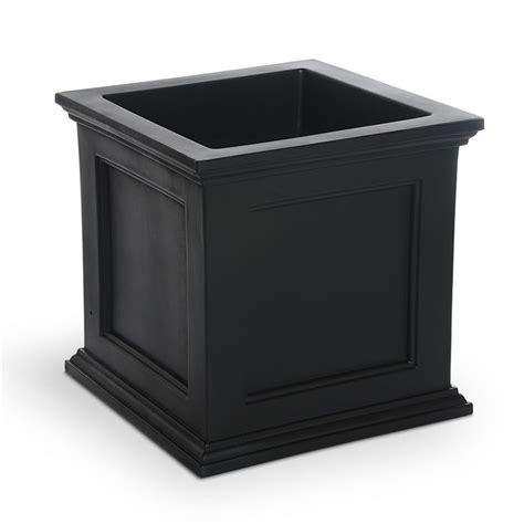 Black Square Planter Box by Planter Boxes 187 Trellis Accents 187 Fairfield 20x20