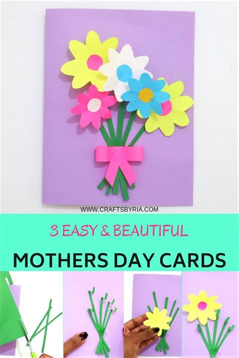 easy  beautiful mothers day cards  kids mothers
