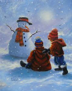 Winter Landscape Paintings For Kids | www.imgkid.com - The ...