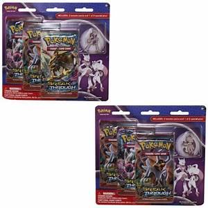 Pokemon Cards - XY Blister 3 Packs with Pin - MEGA MEWTWO ...