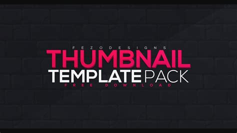 Thumbnail Template Thumbnail Template Pack 5 Templates Free