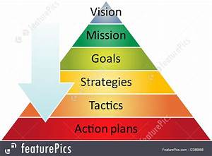 Strategy Pyramid Management Diagram Illustration