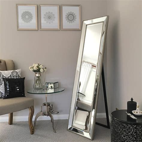 high quality silver length cheval mirror humble home