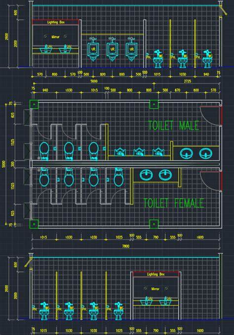public toilet cad block  typical drawing  designers