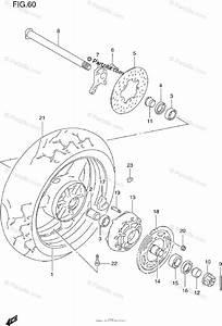 Suzuki Motorcycle 1997 Oem Parts Diagram For Rear Wheel
