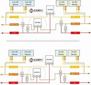 2n7000 An10441 As Logic Level Converter For I2c