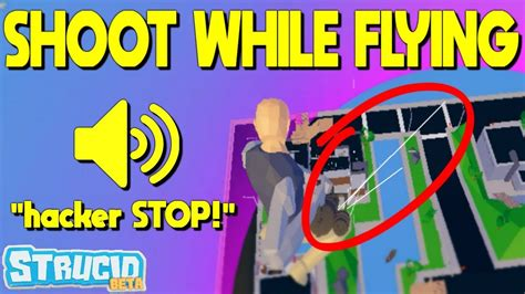 shoot  flying glitch  strucid roblox youtube