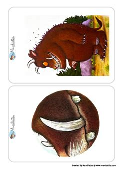 gruffalo body parts flashcards  mambiatka tpt