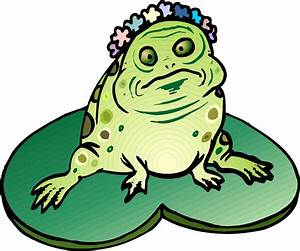 Frog on Lily Pad Clipart - Clipartion.com