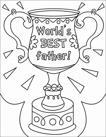 Coloring Fathers Happy Pages Father Printable Award