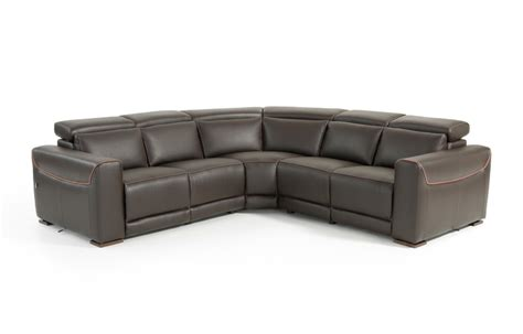 estro salotti thelma modern brown italian leather sectional sofa