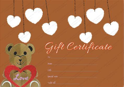 printable teddy bear gift certificate template