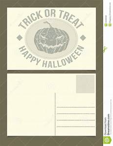 Halloween Postcard Stock Vector - Image: 44469292