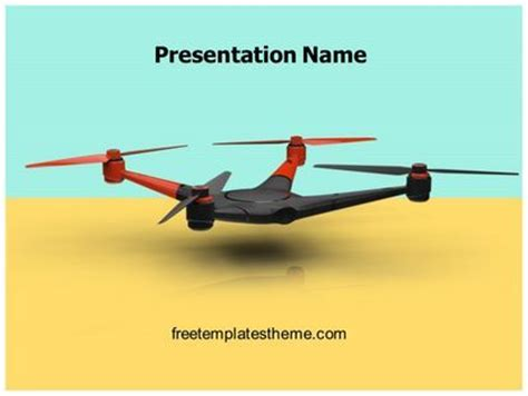 drone quadcopter powerpoint template