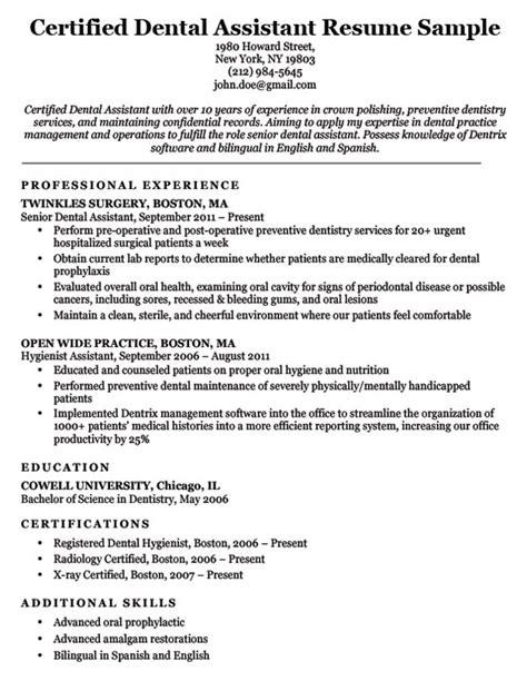 dental resume examples writing tips resume companion