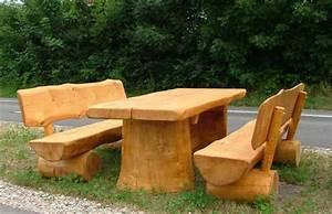 Möbel Aus Baumstämmen : gartenm bel aus baumst mmen ~ Frokenaadalensverden.com Haus und Dekorationen