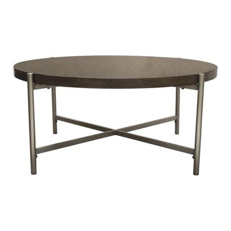 Dimension coffee table 40l x 40d x 18h color: Shop Diamond Sofa Atwood 40-inch Round Grey Oak Veneer ...
