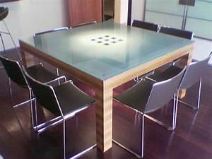 Dessus De Table En Verre : table de salon en z brano verni et dessus en verre ~ Dode.kayakingforconservation.com Idées de Décoration