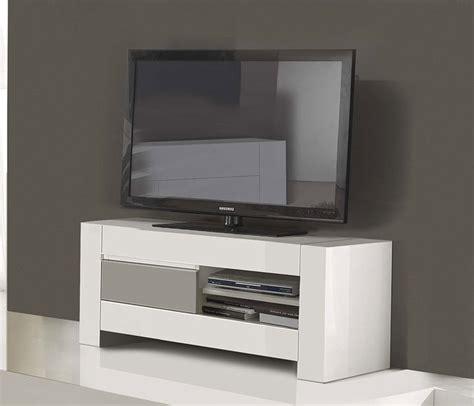 Petit Meuble Télé Gris Et Blanc Pour Salon Design
