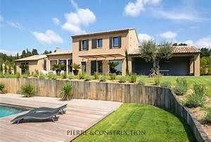 construction d39une maison provencale cette villa With couleur facade maison provencale 0 maison provencale moderne