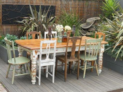 vintage industrialshabby chic table   eclectic se