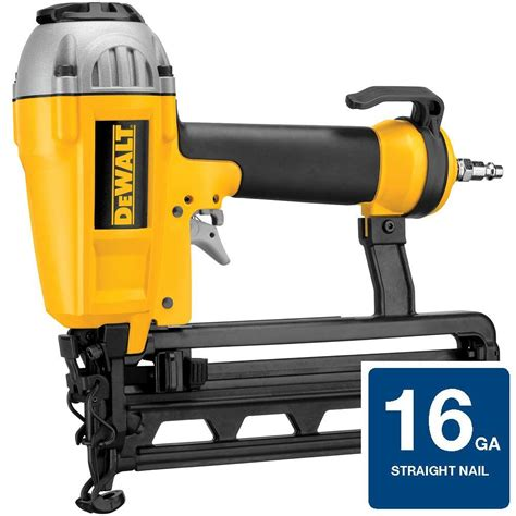 home depot dewalt floor nailer dewalt 16 pneumatic 1 in 2 1 2 in nailer shop